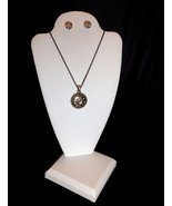 THREE White Leatherette Necklace Pendant Earring Display Stands Jewelry - $19.00