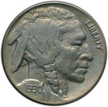 1930S Buffalo Nickel 5¢ Coin Lot# A 265 image 1