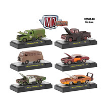 Auto Projects 6 Piece Set Release 40 IN DISPLAY CASES 1/64 Diecast Model... - $57.35