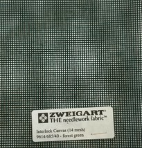 Interlock Needlepoint Canvas 14 Mesh Forest Green Custom Cuts  Blank Canvas  - $7.13+