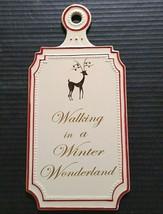 Wall Plaque Christmas Walking Winter Wonderland Seasonal Xmas Holiday Ce... - $26.08