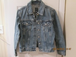 GAP (S) Stone Washed Blue Denim Jean Jacket EUC - $5.00