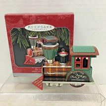 1998 Tin Locomotive 25th Anniv Ed Hallmark Christmas Tree Ornament MIB Tag - $24.26