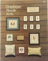 Graphique Needle Arts Booklet Vintage 1977 Cross-Stitch Needlepoint 19 P... - $3.18