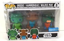 Funko Pop! Star Wars Greedo, Hammerhead, & Walrus Man Figure 3-Pack -New... - $38.77