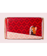 Kate Spade tom & jerry chain wallet Clutch crossbody ~NWT~ Red - $193.05