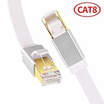 Cat8 Ethernet Cable, GLANICS Network Internet Cable, Flat LAN Cord PoE with RJ45