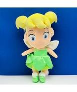 Walt Disney Plush stuffed animal vtg toy Tinker Bell Peter Pan Fairy bab... - $19.06