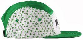 Yea Nice Plantes Flore Weed Marijuana 5 Panneau Strapback Baseball Chapeau Nwt image 3