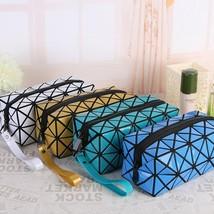 Bag Cosmetic Geometric Zipper Women Laser Flash Diamond Makeup Fashion O... - $187,73 MXN