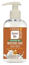 Creme Of Nature Coconut Milk Moisture Curl Hair Milk 8.3 Ounce 245ml 2 Pack