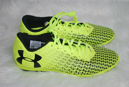 Under Armour Soccer Shoes Youth Size 4 Y Bright Yellow Black Logo Lace-u... - $34.60