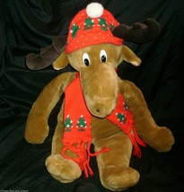 VINTAGE 1986 COMMONWEALTH CHRISTMAS MOOSTLETOE STUFFED ANIMAL PLUSH TOY ... - $32.73
