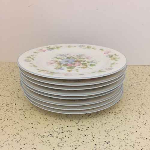 """NORITAKE china MELODY pattern 7212 Bread Butter Plate Set of Four 4 @ 6-1//2/"""""""