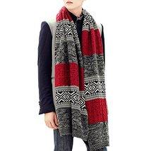 Teen Boys Mens Contrast Color Long Scarves Winter Warm Cozy Leisure Mufflers Nec image 6
