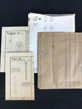 Vintage 1980s Vogue Paris Original Adele Simpson Pattern Faux Wrap Dress Uncut image 4
