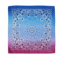 "12 Pack Gradient Rainbow Cotton Head Wrap Scarf Bandana Ombre Colors 22"" X 22"" image 4"