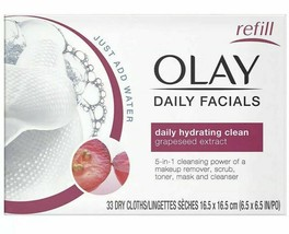 Olay Daily Facials 5-In-1 Water Activated Cleansing Power Cloths 33 Count - $11.95