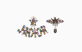 "Authentic Christian Dior 2018 ""J'ADIOR"" EARRINGS Bee Crystal Multicolor"