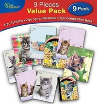 Kitten 2 Pocket Folders,Kittens 9/PC Value Pack by New Generation,Pocket... - $30.93