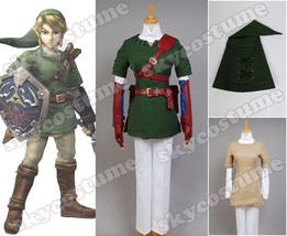 The Legend of Zelda Twilight Princess Link Outfit Cosplay Costume Outfit FullSet - $85.99+
