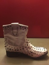 "NEW! Mia ""Buullet"" White Leather Studded Boot 10M - $128.70"