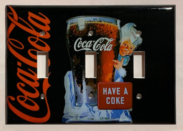 Have a Coke Coca-Cola Light Switch Outlet wall Cover Plate Home Decor image 7