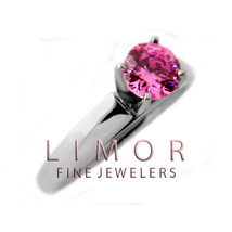 Women's 1.50CT 14K Solid White gold 4 Prong Pink Sapphire Engagement Ring - $450.16