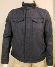 Levis Rain Gear Trucker Jacket Mens M Faux Denim Commuter Fleece Lined W... - $96.01