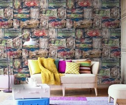 3D Bunte Wand der bücher 3 Fototapeten Wandbild Fototapete BildTapete Familie DE - $52.21+