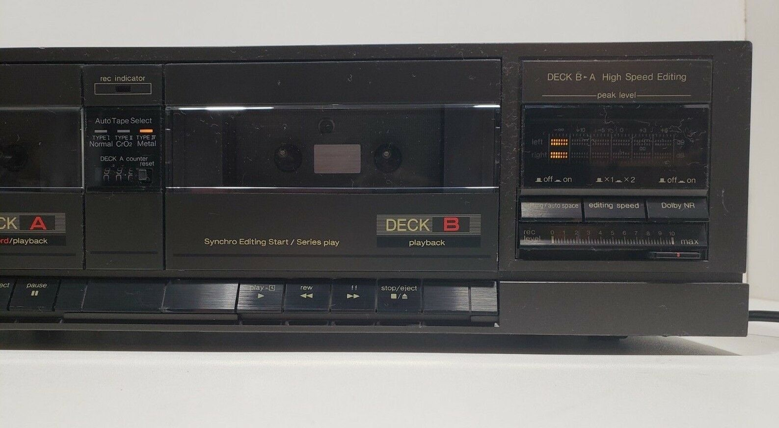 Technics Stereo Double Cassette Deck RS-T18...Tested image 3