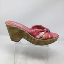8 American Size Pink Wedge Sandals Women's Slip On Eagle CwrxCB0Y