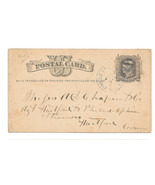 UX5 Forestville CT Cancel DPO Liberty Head Postal Card 1877 Chapin Co Fr... - €4,22 EUR