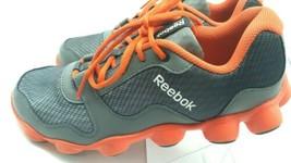 Men's Reebok  Flex Sole Round Treas Athletic Shoe Gray Orange US 7M Men'... - $44.98