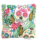 Sugar Skull Rice Pack Hot Cold You Pick A Scent Microwave Heating Pad Re... - $9.99