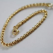 Bracelet Yellow Gold or White 750 18K Rolo, Circles 2.5 mm, 19 cm, Made in Italy image 3