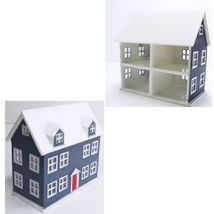 MINIATURE 1/144 toy DOLLHOUSE Dk Blue 4 Rooms Town Square d3109 - $5.12