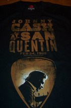 VINTAGE STYLE JOHNNY CASH AT SAN QUENTIN T-Shirt SMALL NEW - $19.80