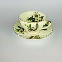 Shafford Bone China Tea Cup & Saucer Dogwood Flower Pattern Japan Vintage - $19.99