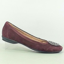 Clarks Artisan Candra Womens Burgundy Suede Leather Flat Shoes Size 8.5M - $34.99