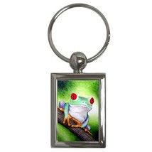 Key chain Keychain Round Rectangle Frog 6 funny art L.Dumas - $11.99