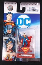 "Jada Dc Nano Metalfigs Diecast DC3 Superman 1.5"" New - $3.75"