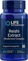 Life Extension Reishi Extract Mushroom Complex, 60 Vegetarian Capsules - $23.20