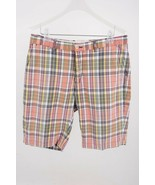 Polo by Ralph Lauren Mens Shorts Size 34 Plaid Multi-Color Chinos Flat C... - $34.65