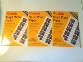 """Kodak Inkjet Photo Paper,20 sheets 8.5-11"""" Perforated for 200 (2\3.5"""") Cards - $19.79"""