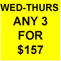 WED-THURS ONLY FLASH PICK ANY 3 FOR $157 BEST OFFERS MAGICK  - $78.50