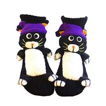 Novelty Handmade Cat Knit Slipper Socks Non-Slip for Womens House Indoor... - $16.33