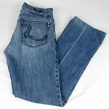 Rock Republic Mens Blue Denim Jeans Henlee Button Fly W 33 L 33 - $19.99