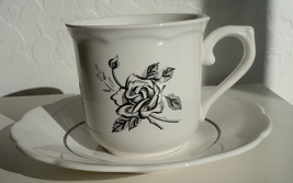 Lenox Ebony Rose Cup and Saucer Set - $7.91