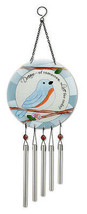 "Bluebirds DREAM of Tomorrow LIVE for Today Wind Chime 7"" center 20"" high... - $24.74"